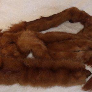 Genuine 4 mink fur collar shawl wrap scarf